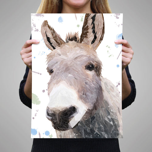 "NEW! ""Daphne"" The Donkey A3 Unframed Art Print"