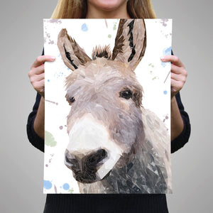 """Daphne"" The Donkey A1 Unframed Art Print - Andy Thomas Artworks"