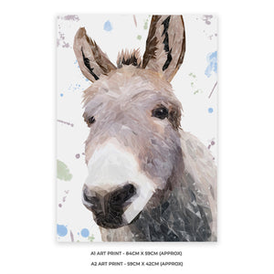 """Daphne"" The Donkey A2 Unframed Art Print - Andy Thomas Artworks"