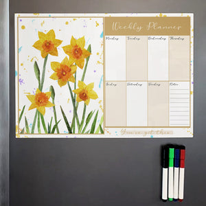 New Beginnings A3 Magnetic weekly planner