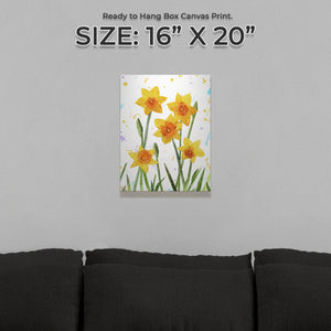 """New Beginnings"" Daffodils Small Canvas Print - Andy Thomas Artworks"