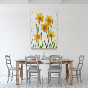 """New Beginnings"" Daffodils Massive Canvas Print - Andy Thomas Artworks"