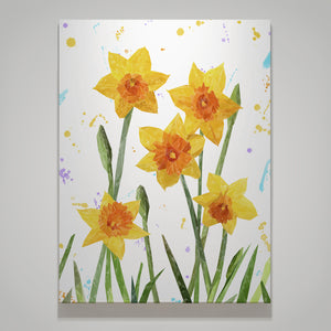 """New Beginnings"" Daffodils Medium Canvas Print - Andy Thomas Artworks"