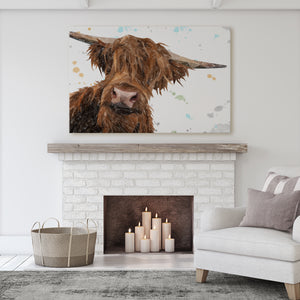 """Mac"" The Highland Bull Massive Canvas Print - Andy Thomas Artworks"