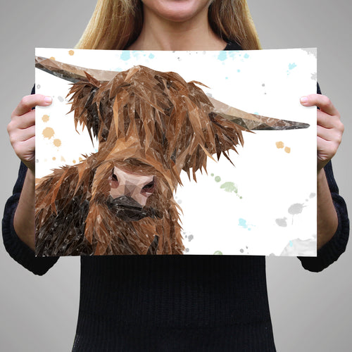 "NEW ""Mac"" The Highland Bull A3 Unframed Art Print"