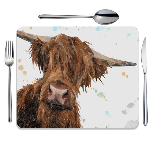 "NEW ""Mac"" The Highland Bull Placemat"