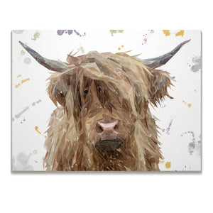 """Millie"" The Highland Cow Skinny Canvas Print - Andy Thomas Artworks"