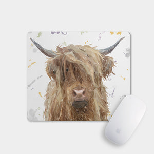 """Millie"" The Highland Cow Mousemat - Andy Thomas Artworks"