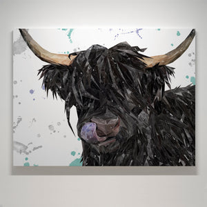 """Mabel"" The Highland Cow Medium Canvas Print - Andy Thomas Artworks"