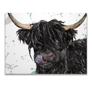 "NEW! ""Mabel"" The Highland Cow Skinny Canvas Print"