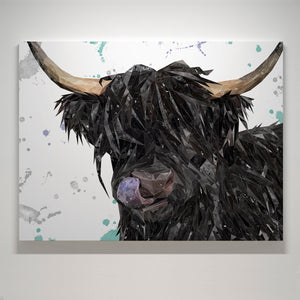 "NEW! ""Mabel"" The Highland Cow Small Canvas Print"