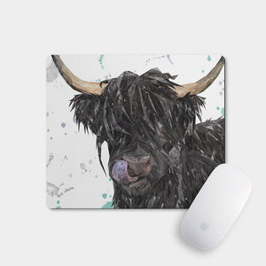 """Mabel"" The Highland Cow Mousemat - Andy Thomas Artworks"