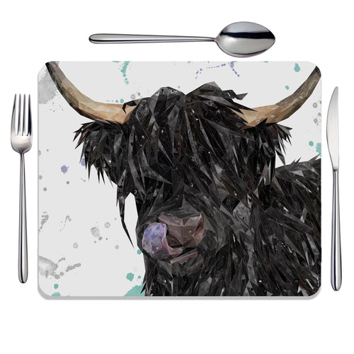 "NEW ""Mabel"" The Highland Cow Placemat"