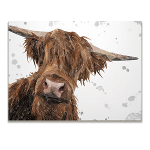 "NEW! ""Mac"" (Grey Background) The Highland Bull Skinny Canvas Print"