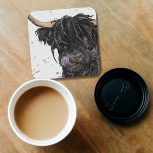 """Mabel"" (grey background) Coaster - Andy Thomas Artworks"