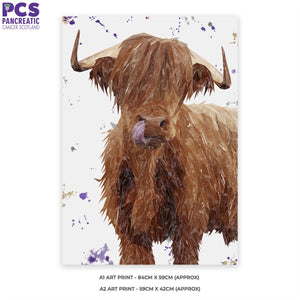 """Stephen Thomas"" The Highland Bull A1 Unframed Art Print"