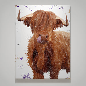 """Stephen Thomas"" The Highland Bull Medium Canvas Print"