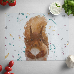 """Ellis"" The Red Squirrel Glass Worktop Saver"
