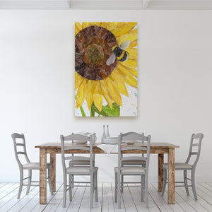 "NEW! ""Summer Nectar"" The Bee and The Sunflower Massive Canvas Print"