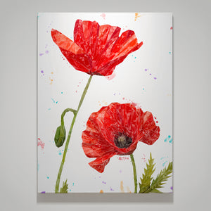 """Hope"" Poppies Medium Canvas Print Portrait"