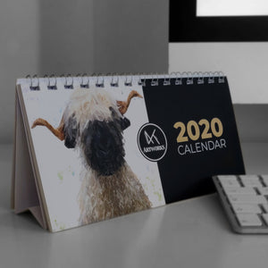2020 Mixed designs Desktop Calendar - Andy Thomas Artworks