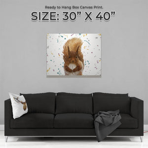 """Ellis"" The Red Squirrel Landscape Large Canvas Print - Andy Thomas Artworks"