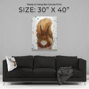 """Ellis"" The Red Squirrel Large Canvas Print - Andy Thomas Artworks"