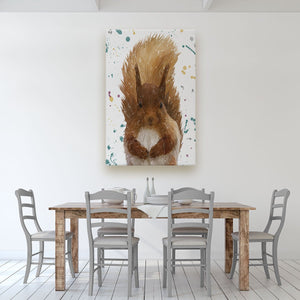 """Ellis"" The Red Squirrel Massive Canvas Print - Andy Thomas Artworks"
