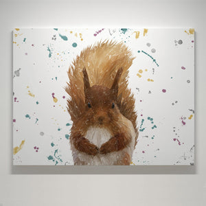 """Ellis"" The Red Squirrel Landscape Small Canvas Print - Andy Thomas Artworks"