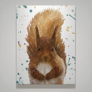 """Ellis"" The Red Squirrel Medium Canvas Print - Andy Thomas Artworks"