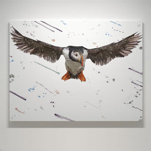 """Frank"" The Puffin Medium Canvas Print - Andy Thomas Artworks"