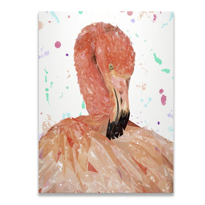 """Felicity"" The Flamingo Skinny Canvas Print - Andy Thomas Artworks"
