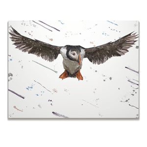 """Frank"" The Puffin Skinny Canvas Print - Andy Thomas Artworks"