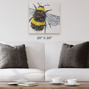"""The Bee"" Square Canvas Print - Andy Thomas Artworks"