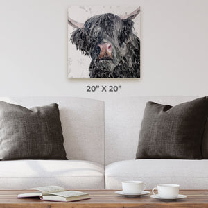 """Bruce"" The Highland Bull Square Canvas Print - Andy Thomas Artworks"