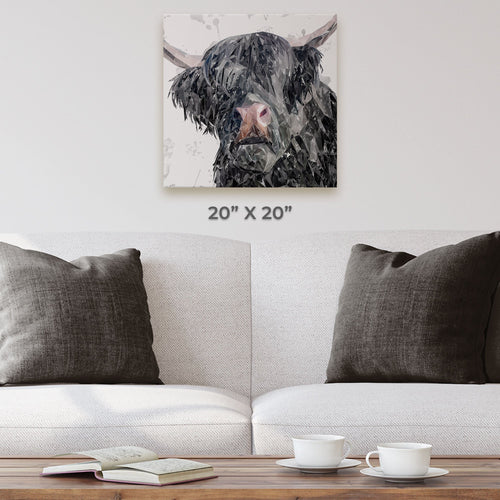 """Bruce"" The Highland Bull Square Canvas Print"