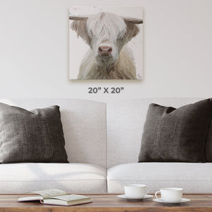 """Evan"" The Highland Bull Square Canvas Print - Andy Thomas Artworks"