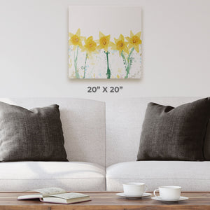 """The Daffodils"" Square Canvas Print - Andy Thomas Artworks"