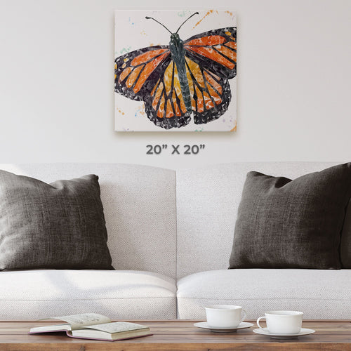 """The Butterfly"" Square Canvas Print"