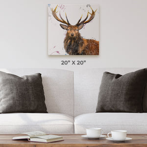 """Rory"" The Stag Square Canvas Print - Andy Thomas Artworks"