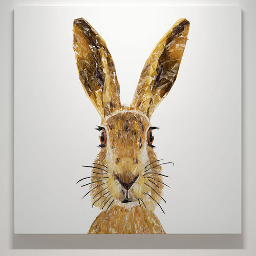 """The Hare"" Square Canvas Print"