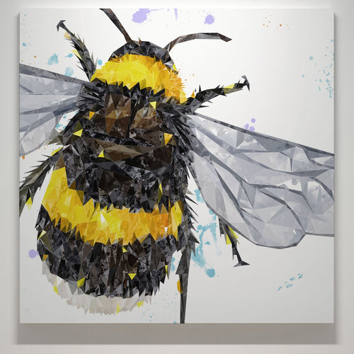 """The Bee"" Square Canvas Print"