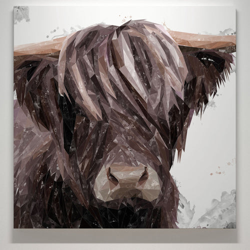 """Hayden"" The Highland Cow Square Canvas Print"