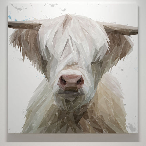 """Evan"" The Highland Bull Square Canvas Print"