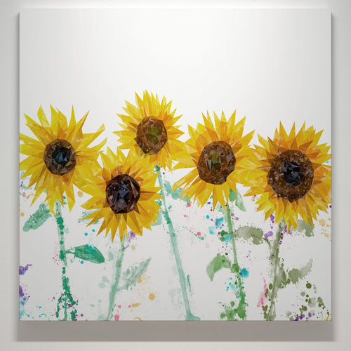 """The Sunflowers"" Square Canvas Print"