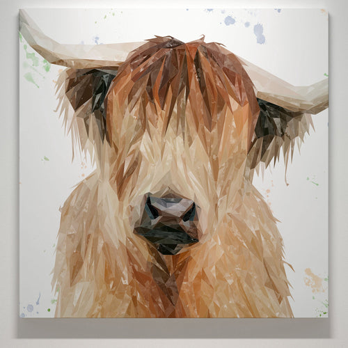 """Bernadette"" The Highland Cow Square Canvas Print"