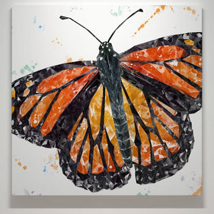 """The Butterfly"" Square Canvas Print - Andy Thomas Artworks"