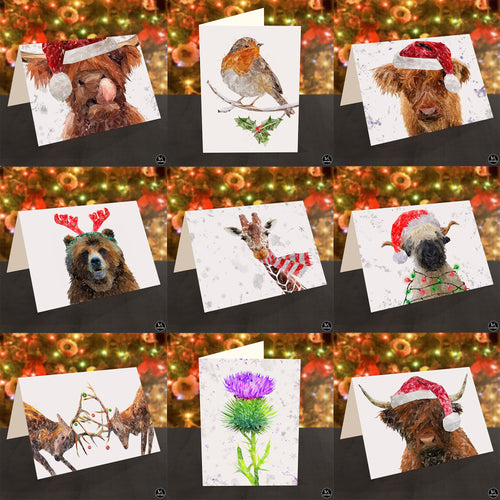 Christmas Cards (Set of 5 Assorted)