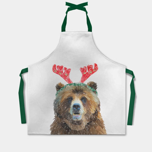 "Christmas ""Monty"" The Brown Bear Apron"