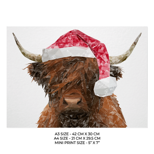 "Christmas ""The Highland"" Art Print"